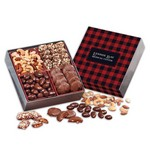 Gourmet Holiday Gift Box with Plaid Sleeve