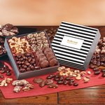 Gourmet Holiday Gift Box with Stripes Sleeve