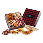 Gift Box with Gourmet Treats with Plaid Sleeve