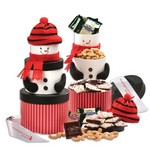 Smiling Snowman Gift Tower