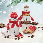 Adorable Snowman Gourmet Food Gift Tower