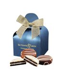 Chocolate Covered Oreos? in Blue Gift Box with Your Logo