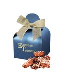 English Butter Toffee in Blue Gift Box with Your Logo