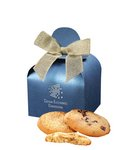 Fresh Baked Cookies in Blue Gift Box with Your Logo