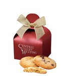 Fresh Baked Cookies in Red Gift Box with Your Logo