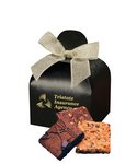 Fresh Baked Brownies in Black Gift Box with Your Logo