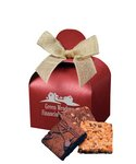 Fresh Baked Brownies in  Red Gift Box with Your Logo
