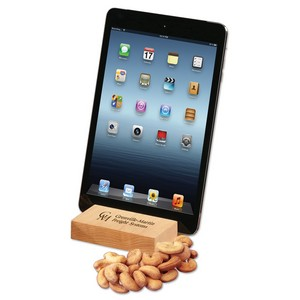 Hard Maple iPad? Holder/Tablet Stand with Extra Fancy Jumbo Cashe