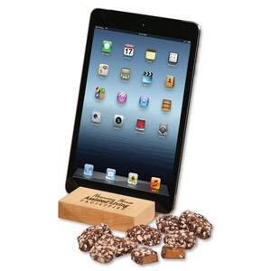 Hard Maple iPad? Holder/Tablet Stand with English Butter Toffee