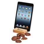 Hard Maple iPad? Holder/Tablet Stand with Pecan Turtles