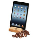 Hard Maple iPad? Holder/Tablet Stand with Chocolate Almonds
