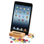 Hard Maple iPad? Holder/Tablet Stand with Jelly Belly? Jelly Bean