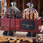 Classic Wooden Box Car with Almonds and Cashews