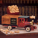 Classic Wooden 1925 Stake Truck with Extra Fancy Jumbo Cashews
