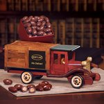 Classic Wooden 1925 Stake Truck with Chocolate Covered Almonds