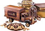 1950's Delivery Truck with Chocolate Almonds and Cashews