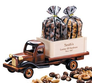 1950's Flat Bed Truck with Chocolate Almonds & Jumbo Cashews