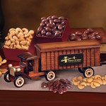 1930-Era Tractor-Trailer Truck with Chocolate Almonds & Extra Fan