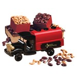 1920-Era Tank Truck with Chocolate Almonds and Extra Fancy Jumbo Cashews