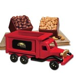 1950-Era Dump Truck with Chocolate Almonds and Fancy Jumbo Cashews