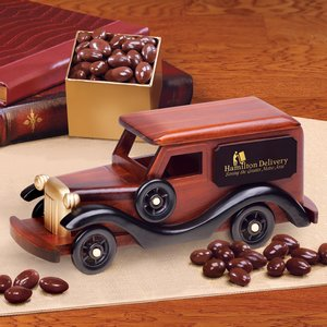1930-Era Delivery Van with Chocolate Covered Almonds