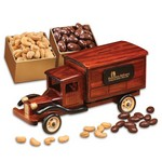 1935-Era Delivery Truck with Chocolate Almonds and Jumbo Cashews