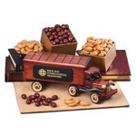 1940-Era Tractor-Trailer Truck with Chocolate Almonds and Fancy Jumbo Cashews