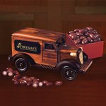 1935-Era Armored Car Bank with Chocolate Covered Almonds