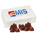 Cocoa Dusted Truffles in White Gift Box