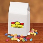 Jelly Belly® Jelly Beans in White Gable Box