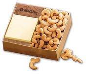 Walnut Post-it? Note Holder with Extra Fancy Jumbo Cashews