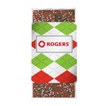 3.5 oz Custom Chocolate Bar with Holiday Nonpareil Sprinkles