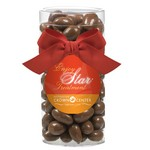 Elegant Gift Tube with Chocolate Covered Almonds