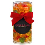 Elegant Gift Tube with Gummy Bears