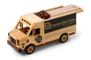 Delivery Van with sliding lid -Praline Pecans 