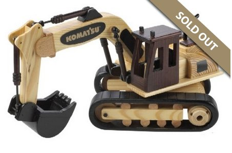 Wooden Excavator filled with Chocolate Almonds
