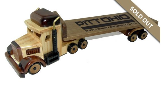 Wooden Flat Bed Truck with Cinnamon Almonds