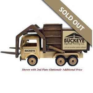 Wooden Garbage Truck with Forks - Jumbo Cashews