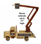 Wooden Collictible Lift Bucket Truck with Natural Pistachios