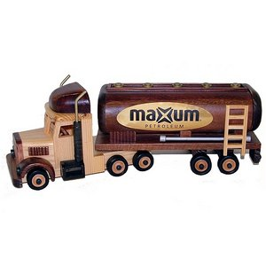 Oil Tanker Wooden Collectible Chocolate Almonds