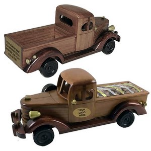 Wood Toned Pickup Truck with Deluxe Mixed Nuts (no Peanuts)