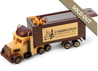 Semi Truck with Sliding Lid Wooden Collectible Jelly Bellys