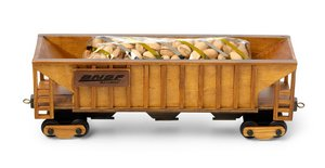 Hopper Car filled with Cinnamon Almonds