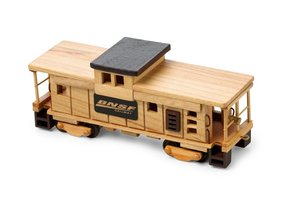 Wooden Train Caboose with Chocolate Almonds