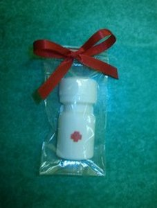 White Chocolate Aspirin Bottle
