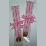 Breast Cancer Awareness Chocolate Covered Pretzel Rods