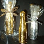 Mini Chocolate Champagne Bottle Party Favor