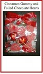 Cinnamon Gummy and Foiled Hearts Party Favor