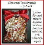 Cinnamon Toast Pretzels in White Chocolate Favor