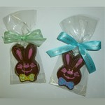 Chocolate Bowtie Bunny wrapped in Cello